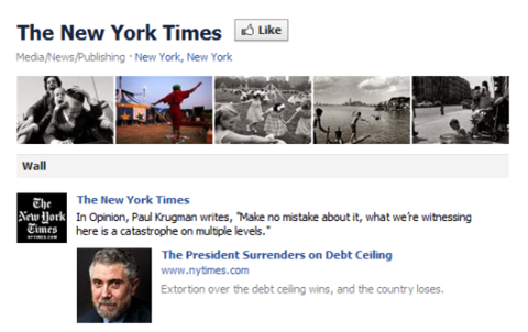new york times facebook page